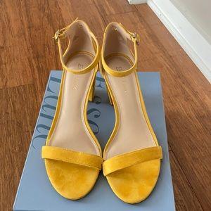 Essex Lane Yellow ankle strap sandals